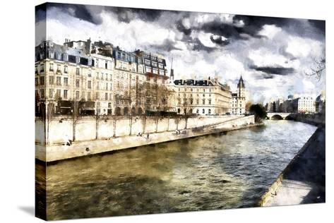 Paris Romantic City-Philippe Hugonnard-Stretched Canvas Print