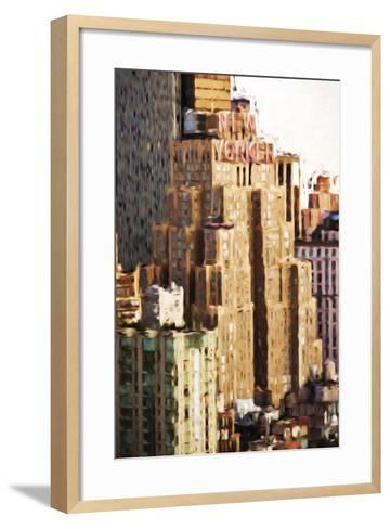 The New Yorker - In the Style of Oil Painting-Philippe Hugonnard-Framed Art Print