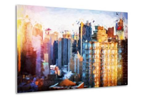 Times Square Life - In the Style of Oil Painting-Philippe Hugonnard-Metal Print