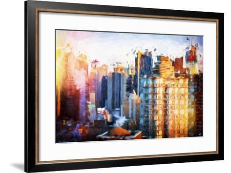 Times Square Life - In the Style of Oil Painting-Philippe Hugonnard-Framed Art Print