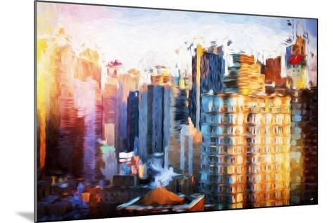 Times Square Life - In the Style of Oil Painting-Philippe Hugonnard-Mounted Giclee Print