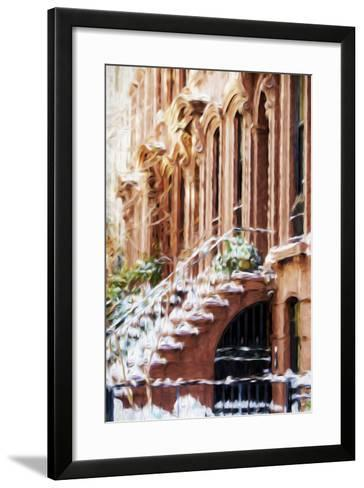 Harlem Building - In the Style of Oil Painting-Philippe Hugonnard-Framed Art Print