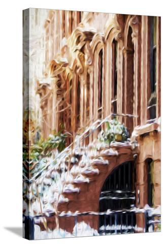 Harlem Building - In the Style of Oil Painting-Philippe Hugonnard-Stretched Canvas Print