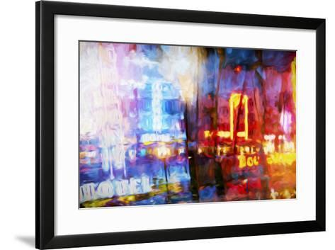 Blue & Red - In the Style of Oil Painting-Philippe Hugonnard-Framed Art Print