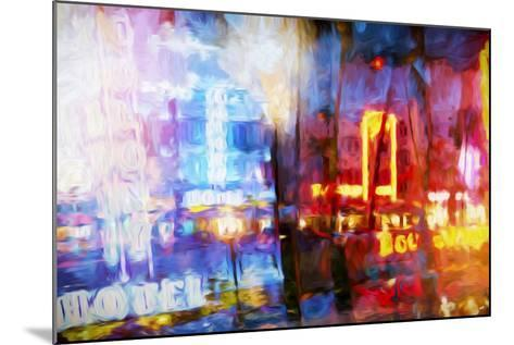 Blue & Red - In the Style of Oil Painting-Philippe Hugonnard-Mounted Giclee Print