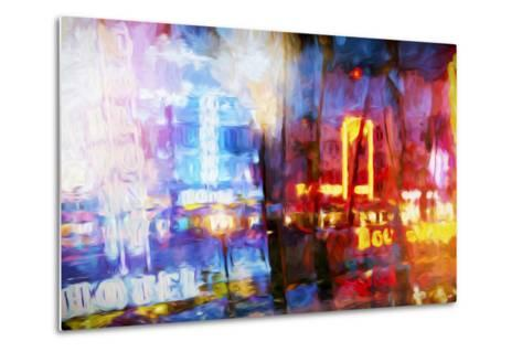 Blue & Red - In the Style of Oil Painting-Philippe Hugonnard-Metal Print