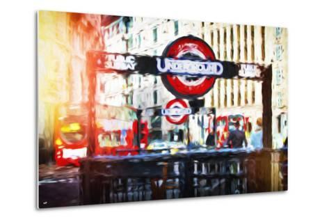 Public Subway - In the Style of Oil Painting-Philippe Hugonnard-Metal Print