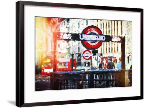 Public Subway - In the Style of Oil Painting-Philippe Hugonnard-Framed Art Print