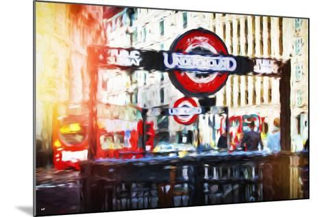 Public Subway - In the Style of Oil Painting-Philippe Hugonnard-Mounted Giclee Print