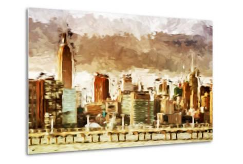 New York Architecture III - In the Style of Oil Painting-Philippe Hugonnard-Metal Print