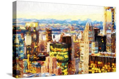 Manhattan Cityscape III - In the Style of Oil Painting-Philippe Hugonnard-Stretched Canvas Print