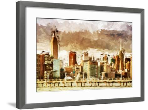 New York Architecture III - In the Style of Oil Painting-Philippe Hugonnard-Framed Art Print