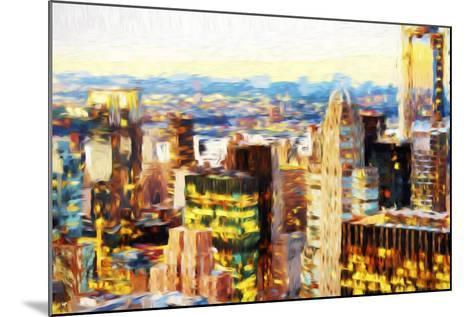 Manhattan Cityscape III - In the Style of Oil Painting-Philippe Hugonnard-Mounted Giclee Print