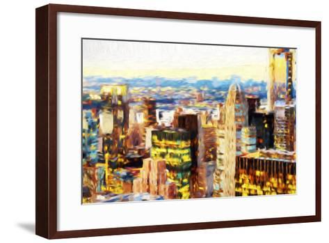 Manhattan Cityscape III - In the Style of Oil Painting-Philippe Hugonnard-Framed Art Print