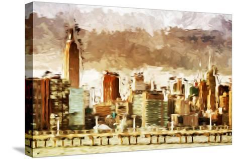 New York Architecture III - In the Style of Oil Painting-Philippe Hugonnard-Stretched Canvas Print
