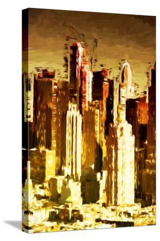 Skyscrapers Collection - In the Style of Oil Painting-Philippe Hugonnard-Stretched Canvas Print