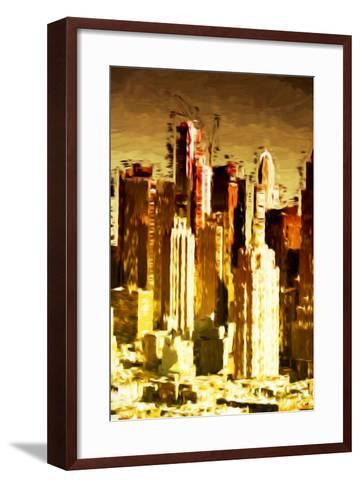 Skyscrapers Collection - In the Style of Oil Painting-Philippe Hugonnard-Framed Art Print
