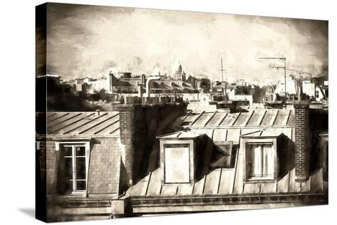 Paris Rooftops III-Philippe Hugonnard-Stretched Canvas Print