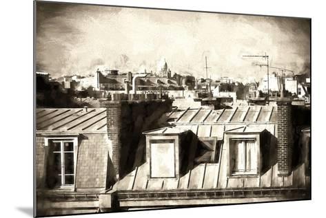 Paris Rooftops III-Philippe Hugonnard-Mounted Giclee Print