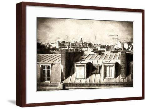 Paris Rooftops III-Philippe Hugonnard-Framed Art Print