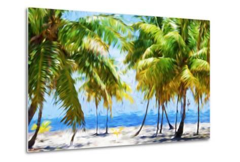 Coastline II - In the Style of Oil Painting-Philippe Hugonnard-Metal Print