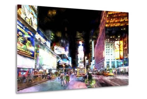 Times Square NYC-Philippe Hugonnard-Metal Print