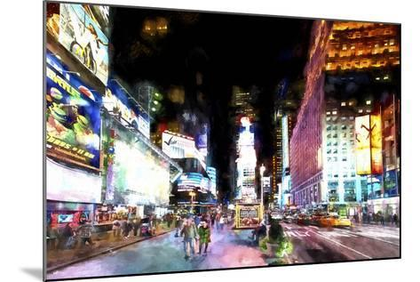 Times Square NYC-Philippe Hugonnard-Mounted Giclee Print