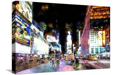 Times Square NYC-Philippe Hugonnard-Stretched Canvas Print