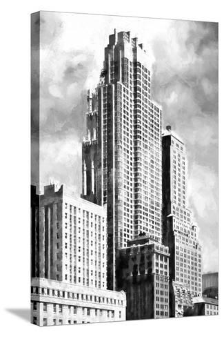 New York Building BW-Philippe Hugonnard-Stretched Canvas Print