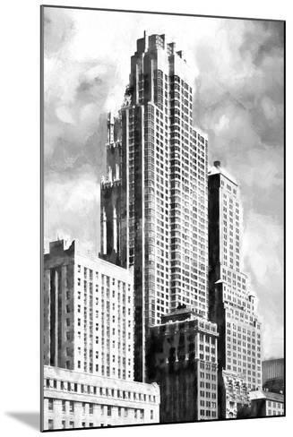 New York Building BW-Philippe Hugonnard-Mounted Giclee Print