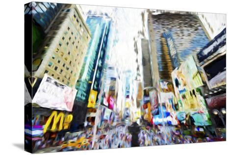Times Square Buildings III - In the Style of Oil Painting-Philippe Hugonnard-Stretched Canvas Print