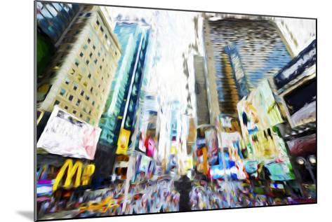 Times Square Buildings III - In the Style of Oil Painting-Philippe Hugonnard-Mounted Giclee Print