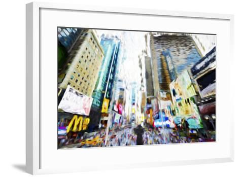 Times Square Buildings III - In the Style of Oil Painting-Philippe Hugonnard-Framed Art Print