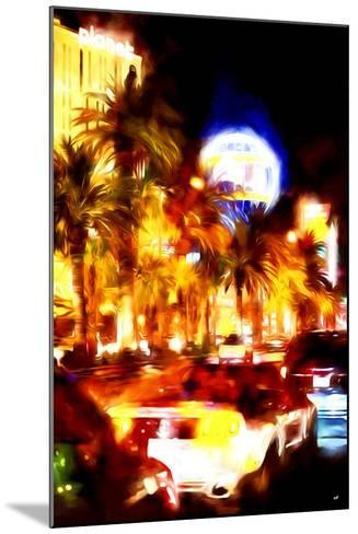Vegas Traffic - In the Style of Oil Painting-Philippe Hugonnard-Mounted Giclee Print