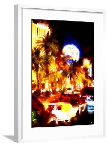 Vegas Traffic - In the Style of Oil Painting-Philippe Hugonnard-Framed Art Print