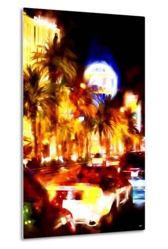 Vegas Traffic - In the Style of Oil Painting-Philippe Hugonnard-Metal Print