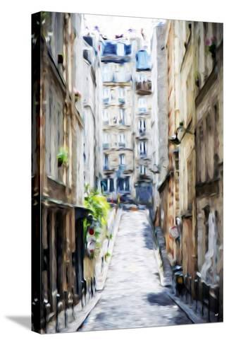 Street Windows - In the Style of Oil Painting-Philippe Hugonnard-Stretched Canvas Print