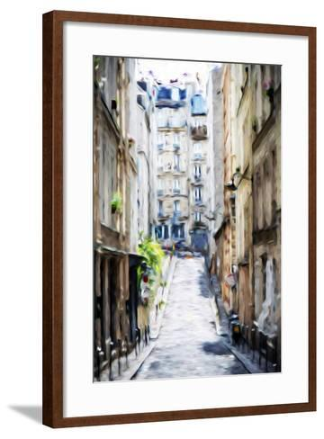 Street Windows - In the Style of Oil Painting-Philippe Hugonnard-Framed Art Print