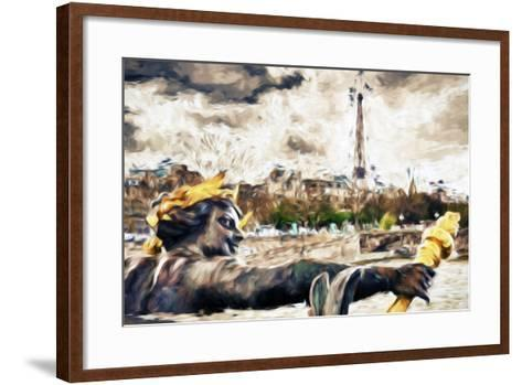 Paris Liberty - In the Style of Oil Painting-Philippe Hugonnard-Framed Art Print