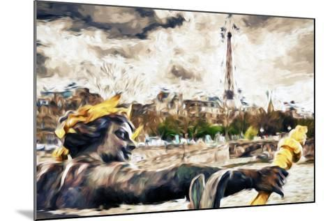 Paris Liberty - In the Style of Oil Painting-Philippe Hugonnard-Mounted Giclee Print