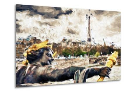 Paris Liberty - In the Style of Oil Painting-Philippe Hugonnard-Metal Print