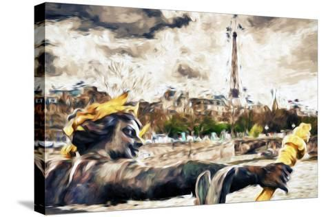 Paris Liberty - In the Style of Oil Painting-Philippe Hugonnard-Stretched Canvas Print