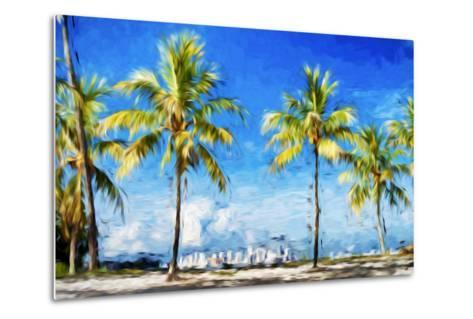 View Miami II - In the Style of Oil Painting-Philippe Hugonnard-Metal Print