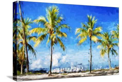 View Miami II - In the Style of Oil Painting-Philippe Hugonnard-Stretched Canvas Print