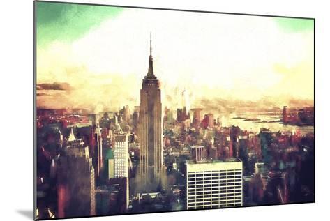 Manhattan Fiery Sunset-Philippe Hugonnard-Mounted Giclee Print