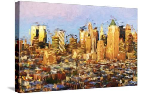 Midtown Manhattan - In the Style of Oil Painting-Philippe Hugonnard-Stretched Canvas Print
