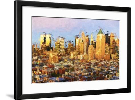 Midtown Manhattan - In the Style of Oil Painting-Philippe Hugonnard-Framed Art Print