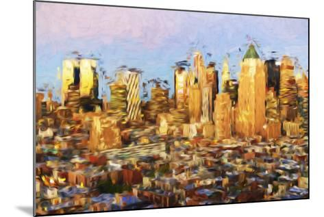 Midtown Manhattan - In the Style of Oil Painting-Philippe Hugonnard-Mounted Giclee Print