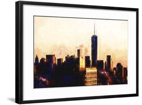 1WTC Sunset-Philippe Hugonnard-Framed Art Print