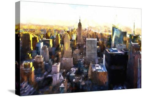 Manhattan Cityscape III-Philippe Hugonnard-Stretched Canvas Print